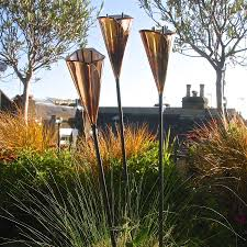 garden sculpture. Copper Lily Garden Sculpture