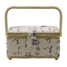 wood fabric handmade arts crafts gift storage boxes jewelry box with handle