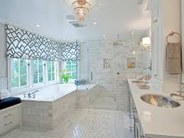 beautiful bathroom window treatments modern toilet blinds awesome white black fabric shades acrylic built bathtub clear glass shower room light grey marble