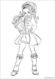 Descendants 2 Coloring Pages Mal Descendants Coloring Pages With