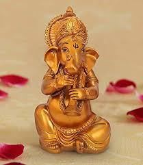 ganesh idols for home decor gifts for house warming ceremony showpiece for drawing room ganesha playing shahnai at low s in india