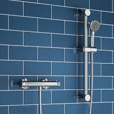 nathan thermostatic bar shower valve slide rail kit