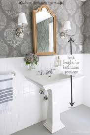 hanging towel on bar. Brilliant Towel Great Tips For How High And Far Apart To Hang Sconces In A Bathroom On To Hanging Towel On Bar