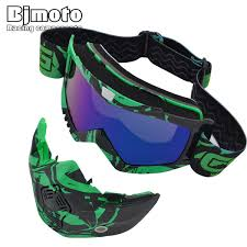 <b>BJMOTO Motocross Goggles</b> Detachable Mask Mouth Filter For ...