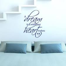 the custom vinyl shop cinderella quote vinyl wall decal sticker decor a dream is a wish your heart makes 721762358221 on dream wall art uk with beauty and the beast be our guest quote vinyl wall decal sticker
