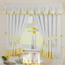 Kitchen Window Curtain Panels Yellow Lemon Voile Cafe Net Curtain Panel Kitchen Curtains Many