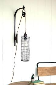 plug in wall sconce. Wall Sconces That Plug Into Outlet . In Sconce R