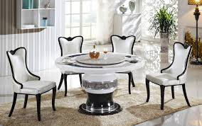 modern round marble dining table for 4 dining chairs above gloss within amazing round marble dining