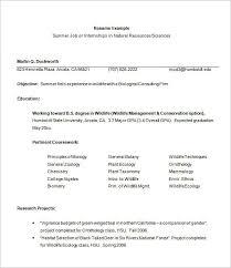 Sample Internship Resume 9 Engineering Techtrontechnologies Com