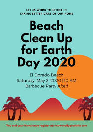 Community Clean Up Flyer Template Aqua Beach Cleanup Earth Day Poster Templates By Canva