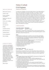 Civil Construction Engineer Sample Resume 6 Civil Engineering CV Template Structural  Engineer Highway Design
