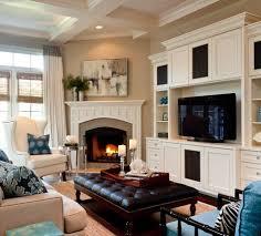How to decorate around a corner fireplace (image source: Caroline Burke  Designs