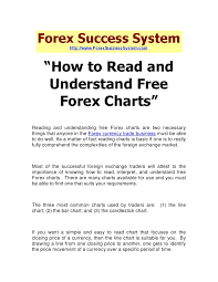 Free Forex Charts How To Read And Understand Free Forex Charts