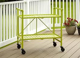Cosco Outdoor Living Indoor/Outdoor Folding Serving <b>Cart</b>, Apple ...