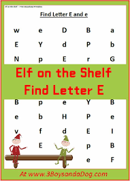 Find the Letter E is for Elf (Christmas Printable Worksheets ...