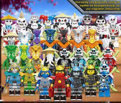 COMBO 32 Minifigures Các Mẫu Nhân Vật Trong Ninjago Siêu Đẹp Có Samurai Đủ  Bộ Season
