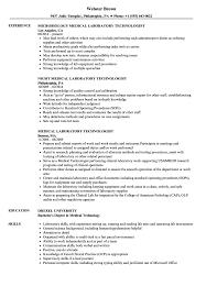 Medical Technologist Sample Resume Laboratory Curriculum Sevte