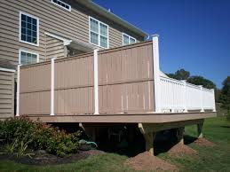 Deck Privacy Wall Designs Home Elements And Style Wood Deck Railing Options Privacy