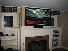 top can you mount a tv over a gas fireplace mounting tv over with