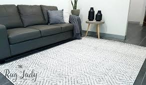 gray and white striped rug wool