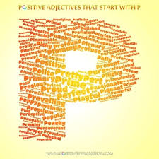 Adjectives For Recommendation Letter Adjectives That Begin With The Letter P Say And Trace Short