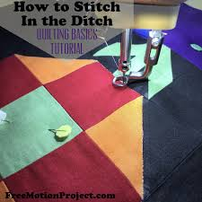 The Free Motion Quilting Project: Quilting Basics 6: Stitching in ... & Regardless of how your quilting skills develop, stitching in the ditch is  like learning how to properly mix cement to a brick layer. Adamdwight.com
