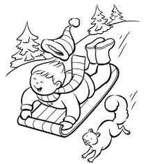 Small Picture Printable Winter Coloring Pages