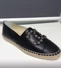 chanel cruise 2016 espadrilles black leather studded