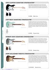 fender eric clapton stratocaster manuals fender eric clapton stratocaster features
