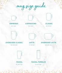 Drinking Glass Size Chart Coffee Mug Sizes Guide To Finding The Perfect Cup Shutterfly