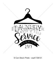drying clothes clipart black and white. Plain White Black And White Sign For The Laundry Dry Cleaning Service With Clothes  Hanger Silhouette Vector Washing Template Logo Calligraphic  To Drying Clothes Clipart And White C