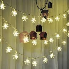 4.8M 20 Solar LEDs Snowflakes String Light Christmas Wedding Garden Decorations Ornament Hanging Outdoor Lights Holiday Lighting Party 4_8M