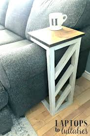 over the arm sofa table side couch made oak