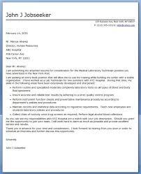 Cover Letter Medical Laboratory Technician Creative Resume Design