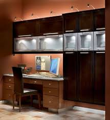 home office desk ideas. Custom Desk In Light Toffee With Overhead Cabinets Dark Quartersawn Oak Peppercorn. Home Office LightingCustom DeskOffice EssentialsDesk IdeasOffice Ideas