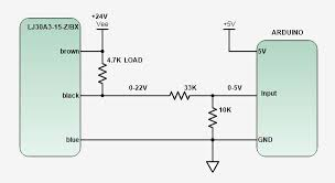 wiring a npn sinking switch sensor operating above 5v dc try this
