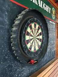 Dart Board Cabinet With Chalkboard Photo Prop Chalkboard Motocross Tire Dart Board On A Chalk Board