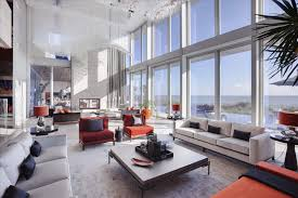 cool living rooms. Living Room:Wonderful Oceanfront Rooms Design With High Glass Window Wall And Cool White
