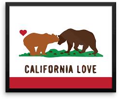 california love bears state flag
