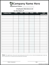 Best Images Of Daily Attendance Checklist Classroom Employee