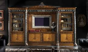 High end china display cabinet Italian furniture