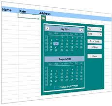Excel Calendar Template 2013 Excel Date Picker A Pop Up Calendar For Excel