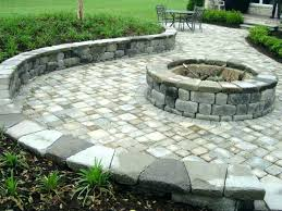patio paver kits round circular kit with fire pit