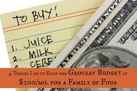 Budgeting For A Family Of 4 Our 200 Grocery Budget 4 Ways Our Family Of 4 Saves