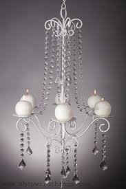 chandelier hayden white crystal 16 7 x 28 6 candle plates