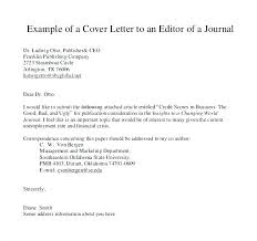Cover Letter Journal Submission Cover Letter For Article Submission