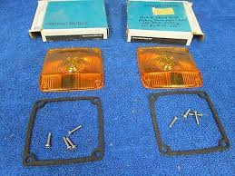 chevy c io 1973 74 chevy c 60 truck parking turn signal lenses pair nos gm 1015
