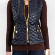 Fate Faux Leather Quilted Vest in Navy from Glik's | Vest & Fate Faux Leather Quilted Vest in Navy FTP2181 Adamdwight.com