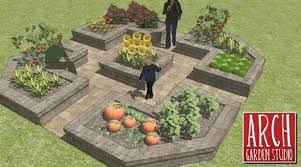 Small Picture raised bed garden design with flowers and watering system keyhole