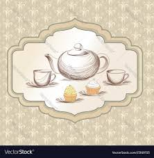 vintage tea cups vector. Wonderful Tea Inside Vintage Tea Cups Vector O
